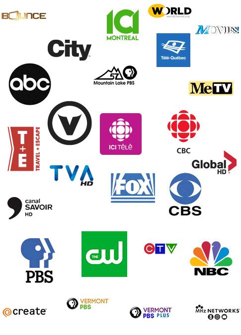 Postes TV HD Gratuit en mosaique